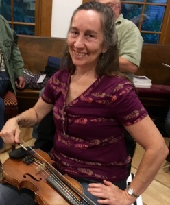 Mary Beth with fiddle